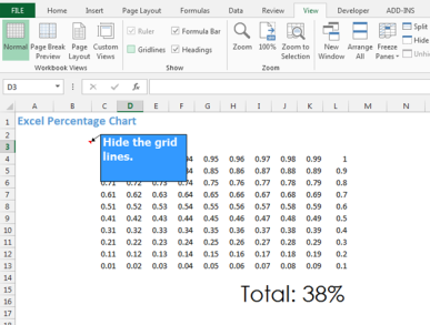 Percentage charts with conditional formatting – teylyn